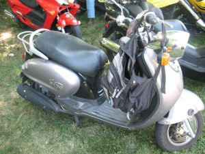 The second scooter I borrowed to ride the rally