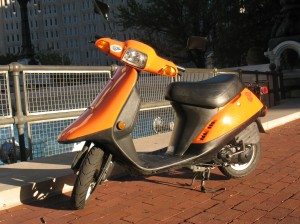 The orange bee was a Honda Elite SR50