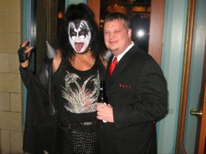 The winner of the costume contest - Gene Simmons