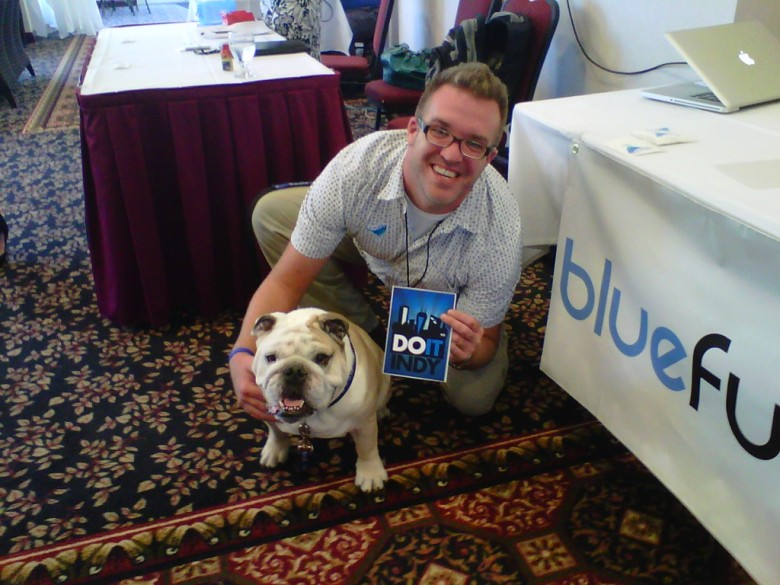The best mascot in NCAA Division I - Blue 2!