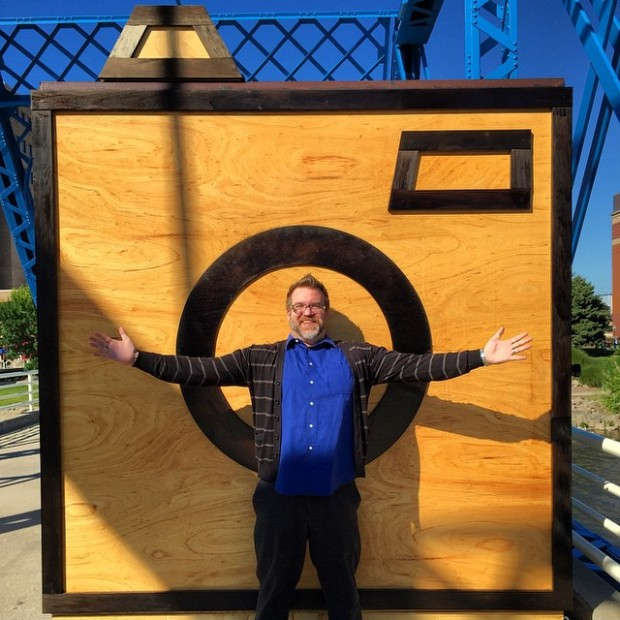 Artprize 2014 in Grand Rapids. This was a BIG camera.