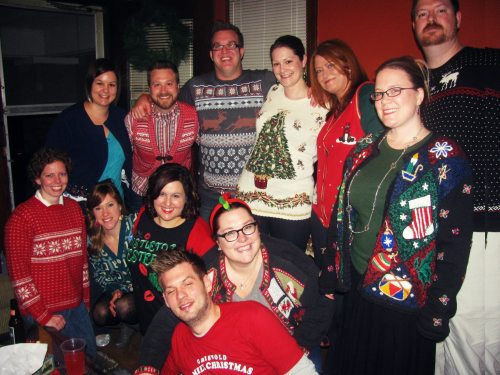 Ugly Christmas Sweater party for my 35th Birthday