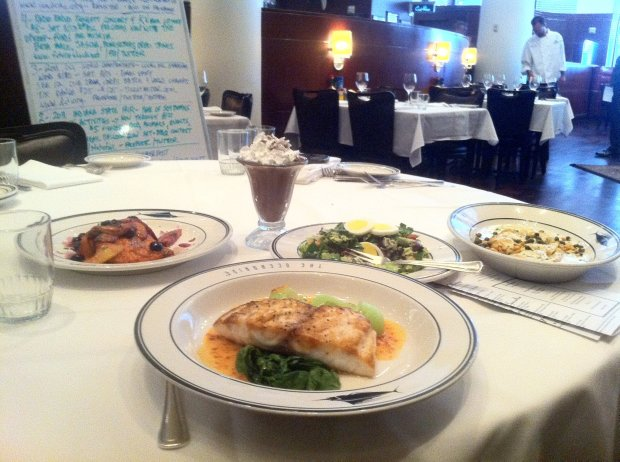 The food is incredible at the Oceanaire Seafood Room in downtown Indy