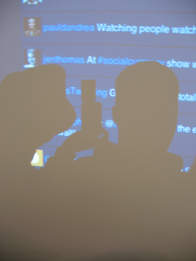 We had a good time with the tweet wall at the social currency art exhibit