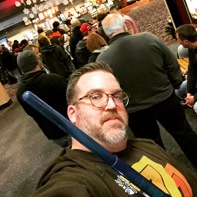 In line for Star Wars The Force Awakens.