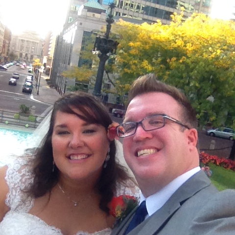 The second wedding selfie. First was before we walked down the aisle. #wedbk