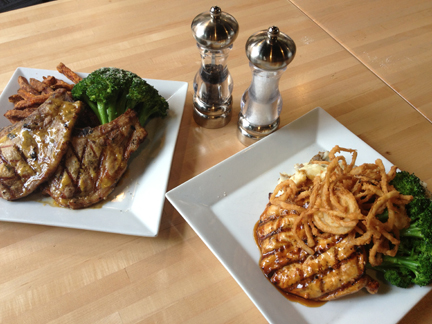 Two options from the Indianapolis Colts Grille