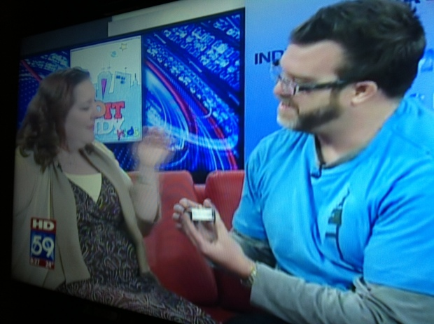 I proposed to my wife on live TV in early February 2013.
