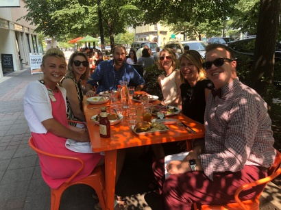 The team at Karlee's goodbye lunch